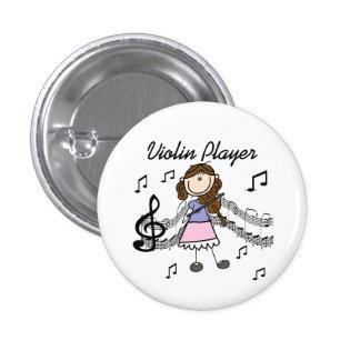Botón del jugador del violín del chica
