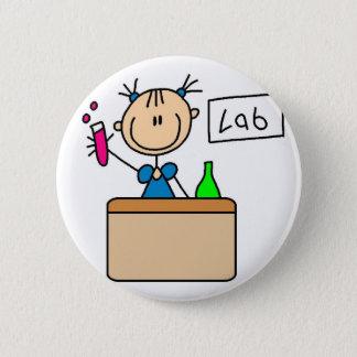Botón del laboratorio de ciencia