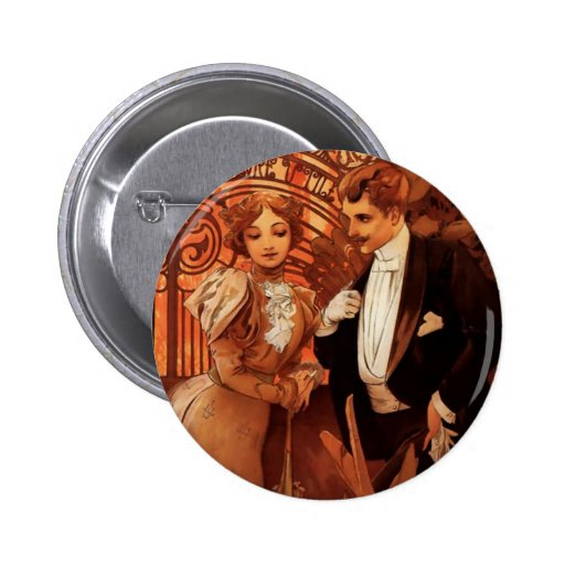 Botón del ligón de Alfonso Mucha Pins