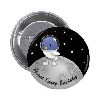 Botón del logotipo de la sociedad de Tweep del esp