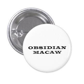 Botón del logotipo del Macaw de la obsidiana