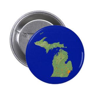 Botón del mapa de Michigan