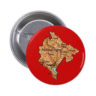 Botón del mapa de Montenegro