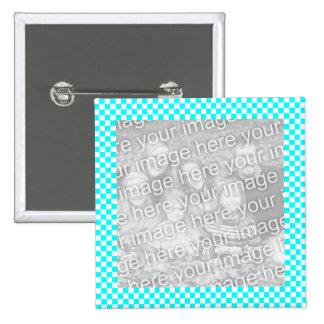 Botón del marco de la foto del tablero de damas pin