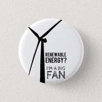 Botón del molino de viento de la energía renovable