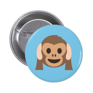 Botón del mono de los intrusos del fiesta en azul
