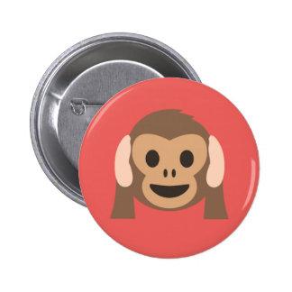 Botón del mono de los intrusos del fiesta en rojo