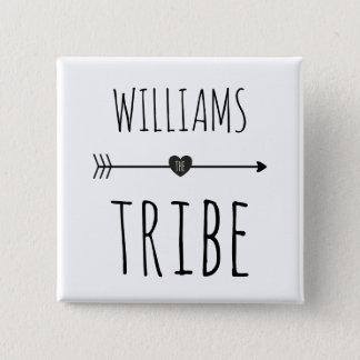 Botón del monograma de la tribu de la familia