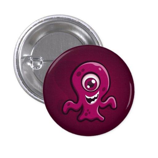 Botón del monstruo de la gota pin