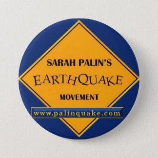 Botón del movimiento del terremoto de Sarah Palin