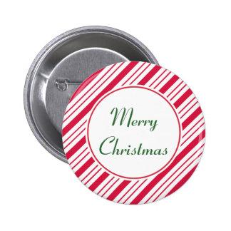 Botón del navidad de la hierbabuena pin