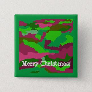 Botón del navidad del camuflaje del navidad de