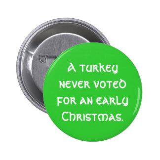 """Botón del """"navidad temprano"""" pins"""