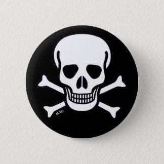 Botón del negro de huesos del cráneo n