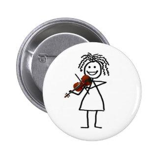 Botón del niño del violín