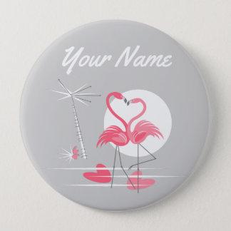 Botón del nombre del lado del amor del flamenco