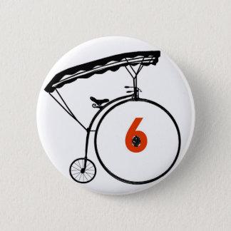 Botón del número 6 - el preso - bicicleta