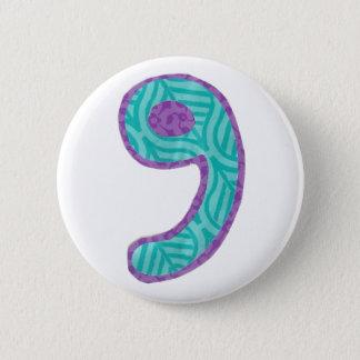 Botón del número nueve