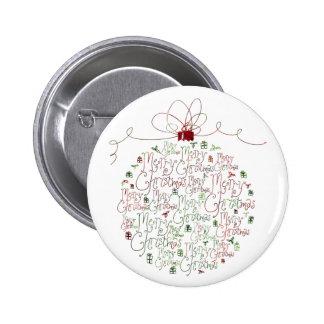 Botón del ornamento del navidad