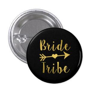 Botón del oro de la dama de honor de la tribu de