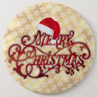 Botón del oro del gorra del navidad del copo de