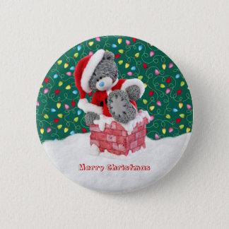 Botón del oso de peluche de Santa del navidad