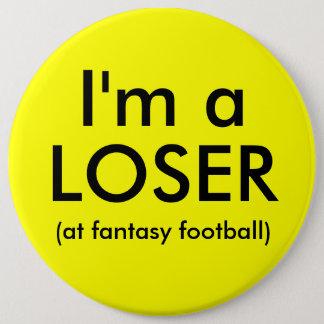 Botón del perdedor del fútbol de la fantasía