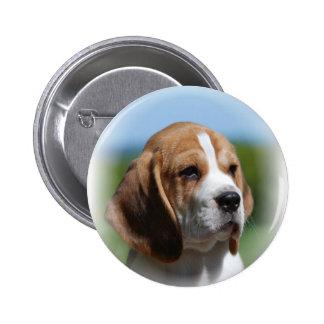 Botón del perrito del beagle