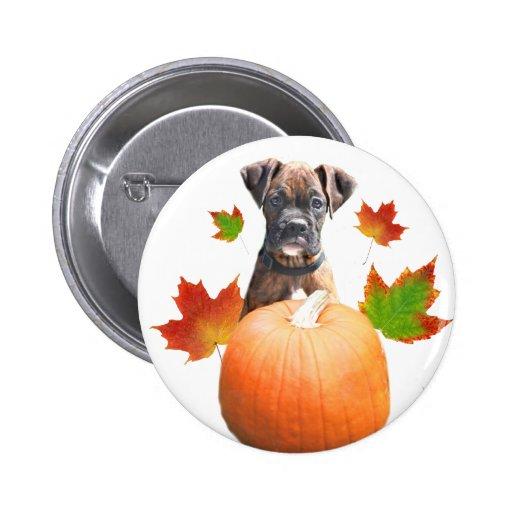 Botón del perrito del boxeador de la acción de gra pins