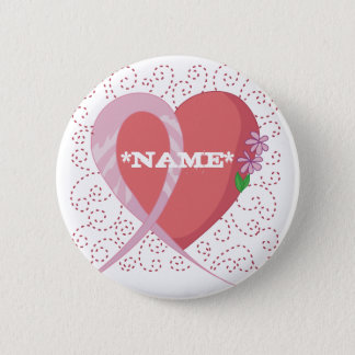 Botón del personalizable del corazón del cáncer de