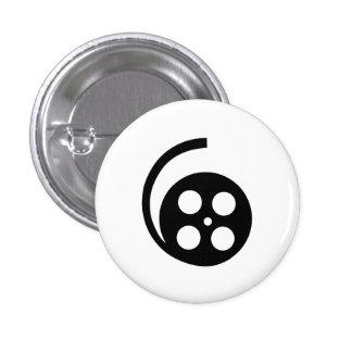 Botón del pictograma del carrete de la película pins