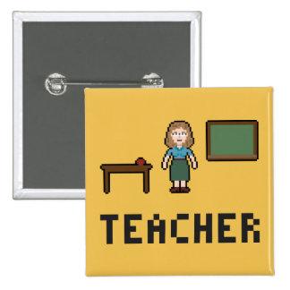 Botón del profesor de escuela del pixel