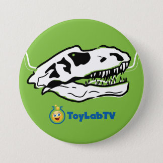 Botón del rancho de T-Rex con el dinosaurio