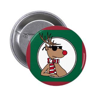 botón del reno pin