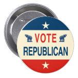 Botón del republicano del voto pin