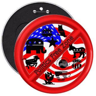 Botón del repulsivo de la campaña política