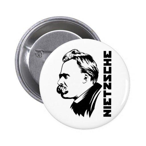 Botón del retrato de Frederich Nietzsche Pin