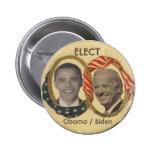 Botón del Retro-estilo de Obama/de Biden Pin