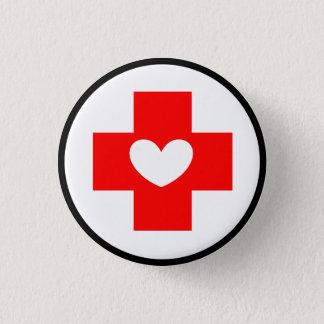 Botón del símbolo de la enfermera de la Cruz Roja