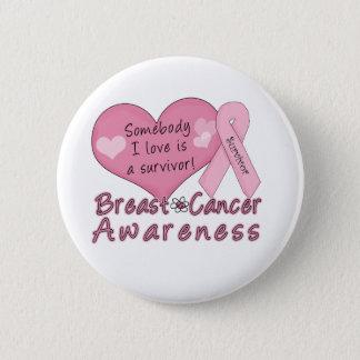 Chapa Redonda De 5 Cm Botón del superviviente del cáncer de pecho