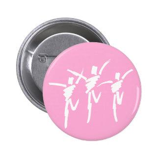 Botón del trío de la danza del movimiento del