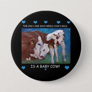 Botón del vegano de la leche de la mamá de la
