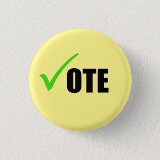 Botón del voto chapa redonda de 2,5 cm