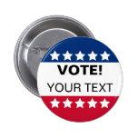 Botón del voto - personalícelo pins