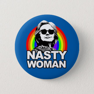 Botón desagradable de la mujer de Hillary Clinton