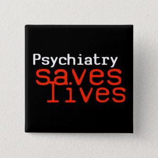Chapa Cuadrada Botón dramático de la Favorable-Psiquiatría