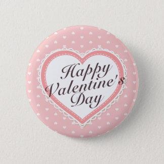 Botón elegante de los corazones del rosa del el