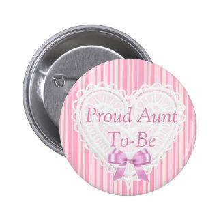 Botón elegante lamentable rayado rosado de la
