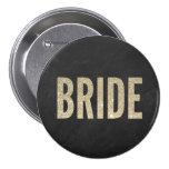 Botón elegante trémulo de la novia