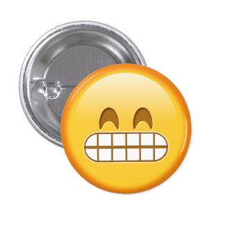Botón enojado divertido del smiley del emoji